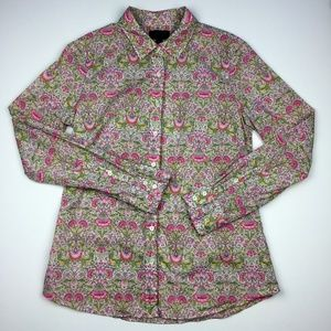 J Crew Liberty Arts Perfect Floral Button Down